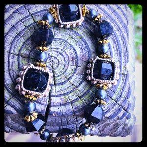 Jewelry - Deep Purple Bead Elastic Bracelet